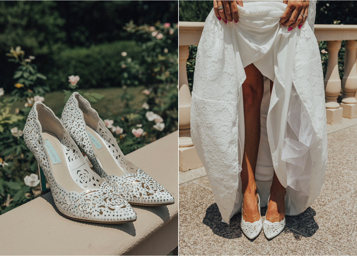 crystal wedding shoes that won't break the bank