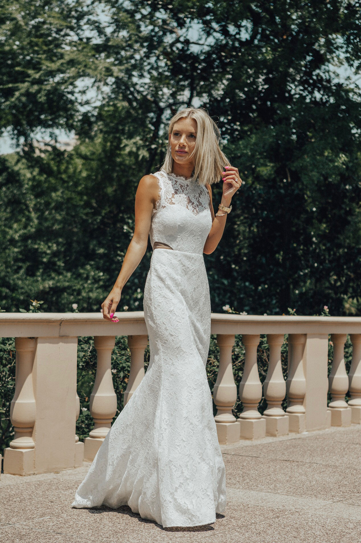 the perfect lace wedding dress for the bride on a budget