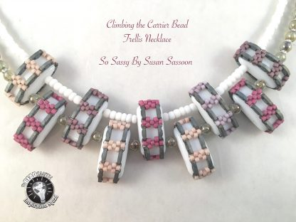 Carrier bead Quarter Tila Necklace