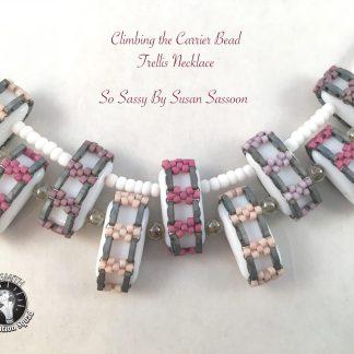 Carrier bead Quarter Tila Necklace