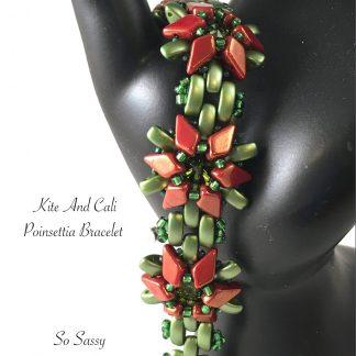 Kite and Cali Poinsetta bracelet tutorial