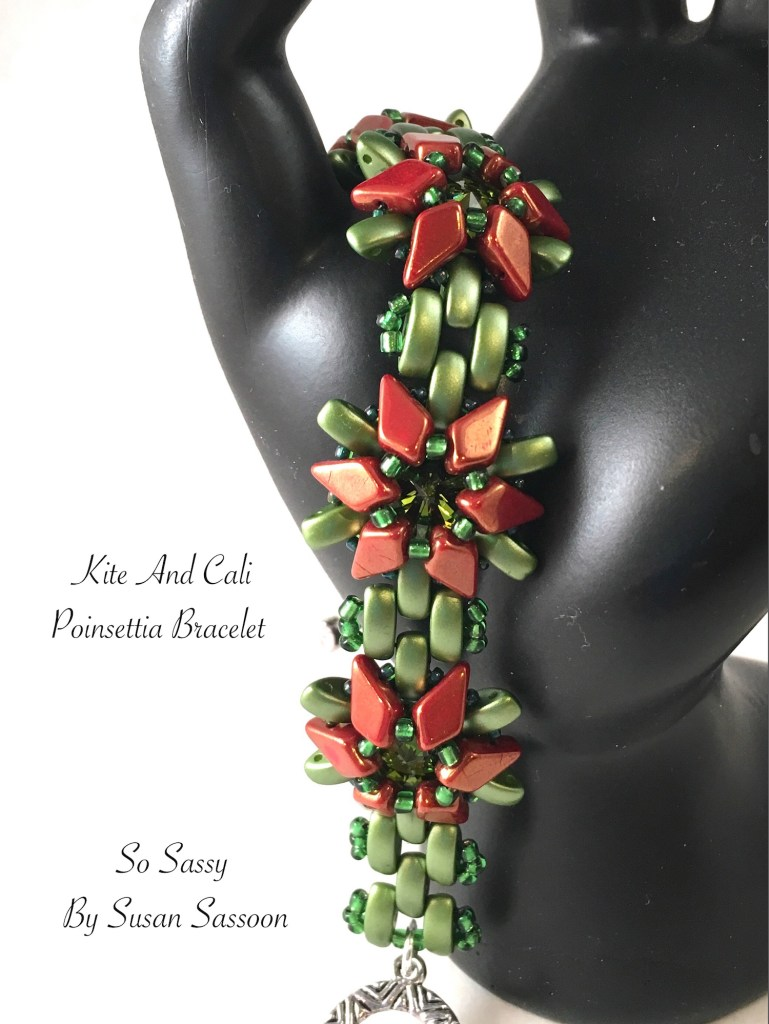 Kite and Cali Poinsetta bracelet tutorial