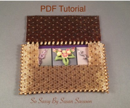 Beaded business Card Holder