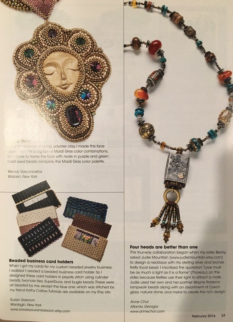 Bead and Button Magazine Feb/Mar 2016 Beaded Business Card Holder