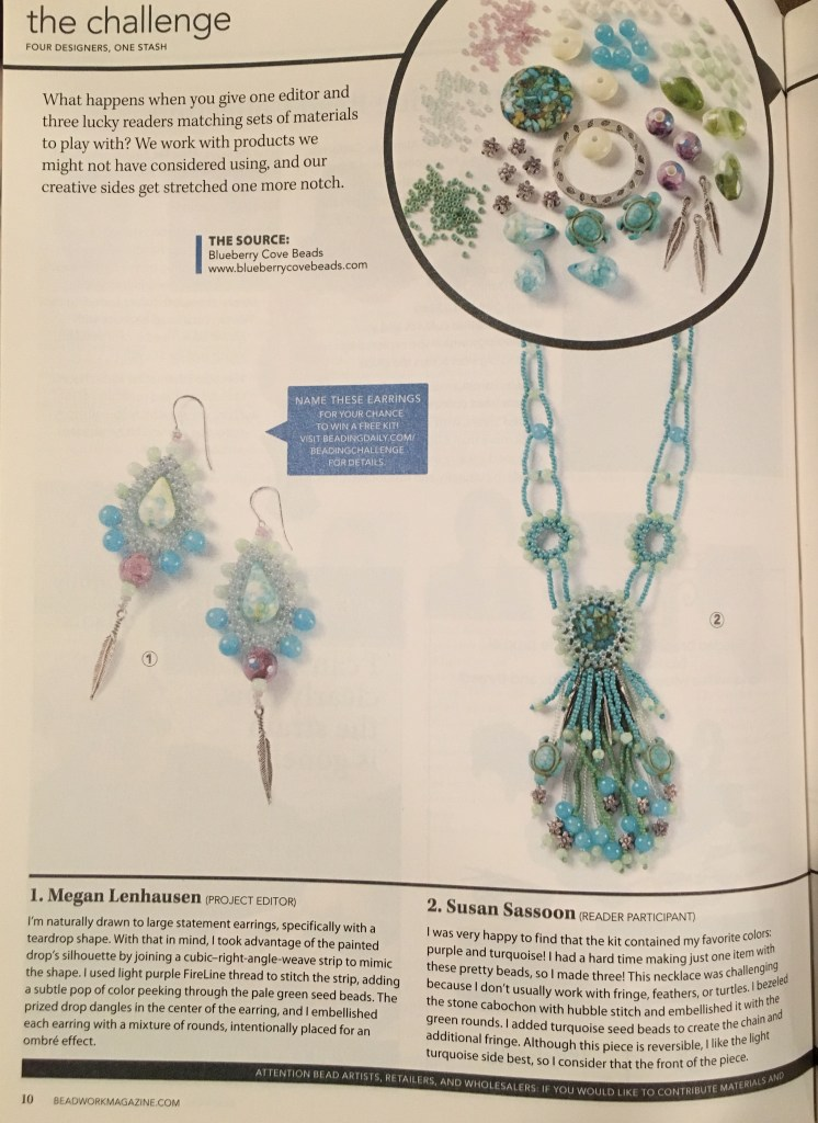 Beadwork Magazine Oct/Nov 2016 Beadwork Reader Challenge