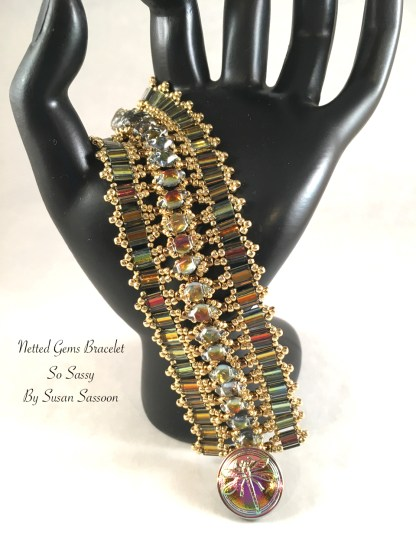Netted Gems Bracelet Gold