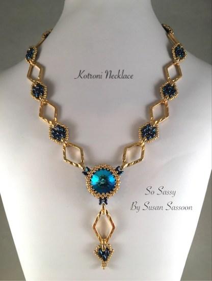 Kotroni Necklace - Blue Gold