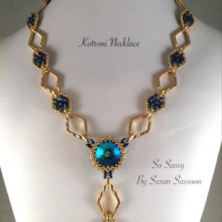Kotroni Necklace - Blue Gold