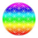 Die Blume des Lebens und der Regenbogen