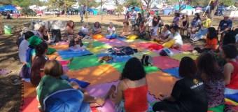 Ativistas têm momento de autocuidado e cuidado na programação da Marcha das Margaridas