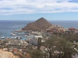 Nunca me canso de ver el panorama de Cabo San Lucas.