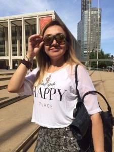 El día inició muy bien... En el Lincoln Center esperamos a una amiga antes de ir al Whitney Museum.