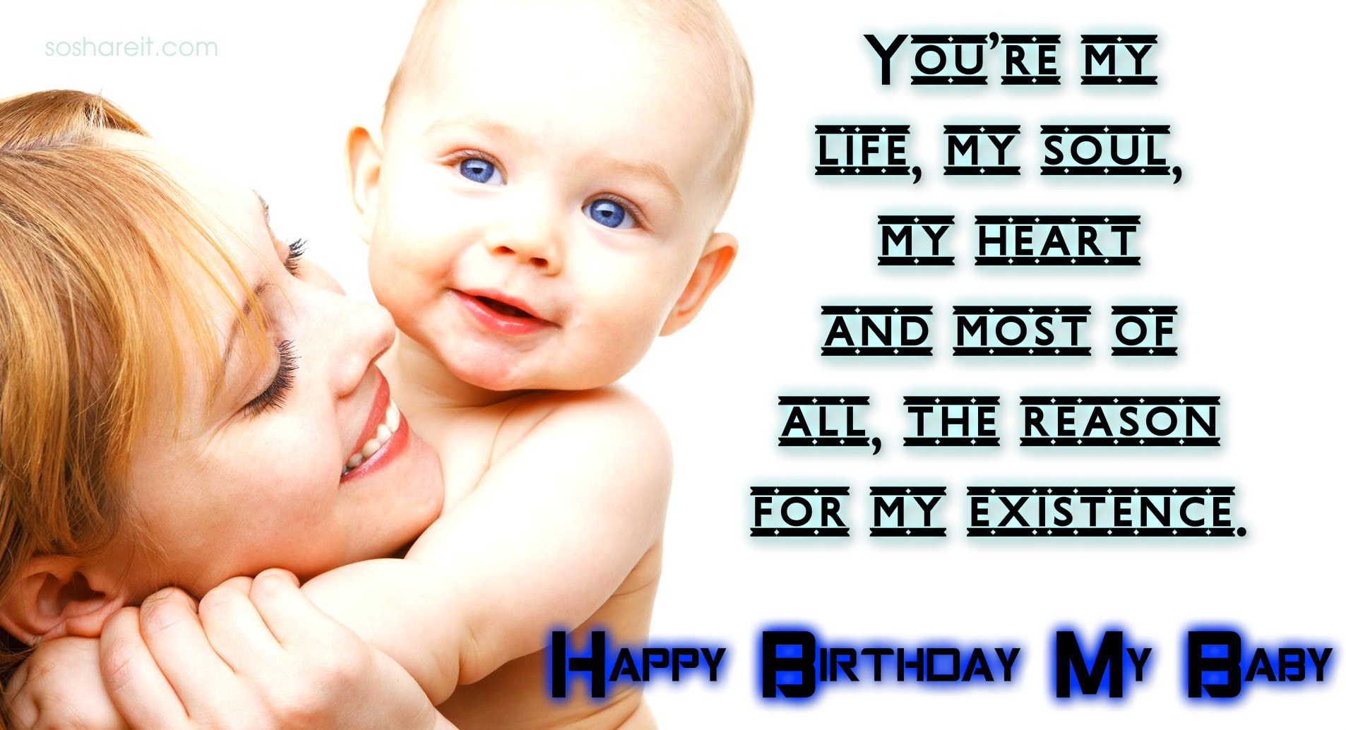 Happy Birthday Baby Wishes Wallpapers And Quotes Soshareit