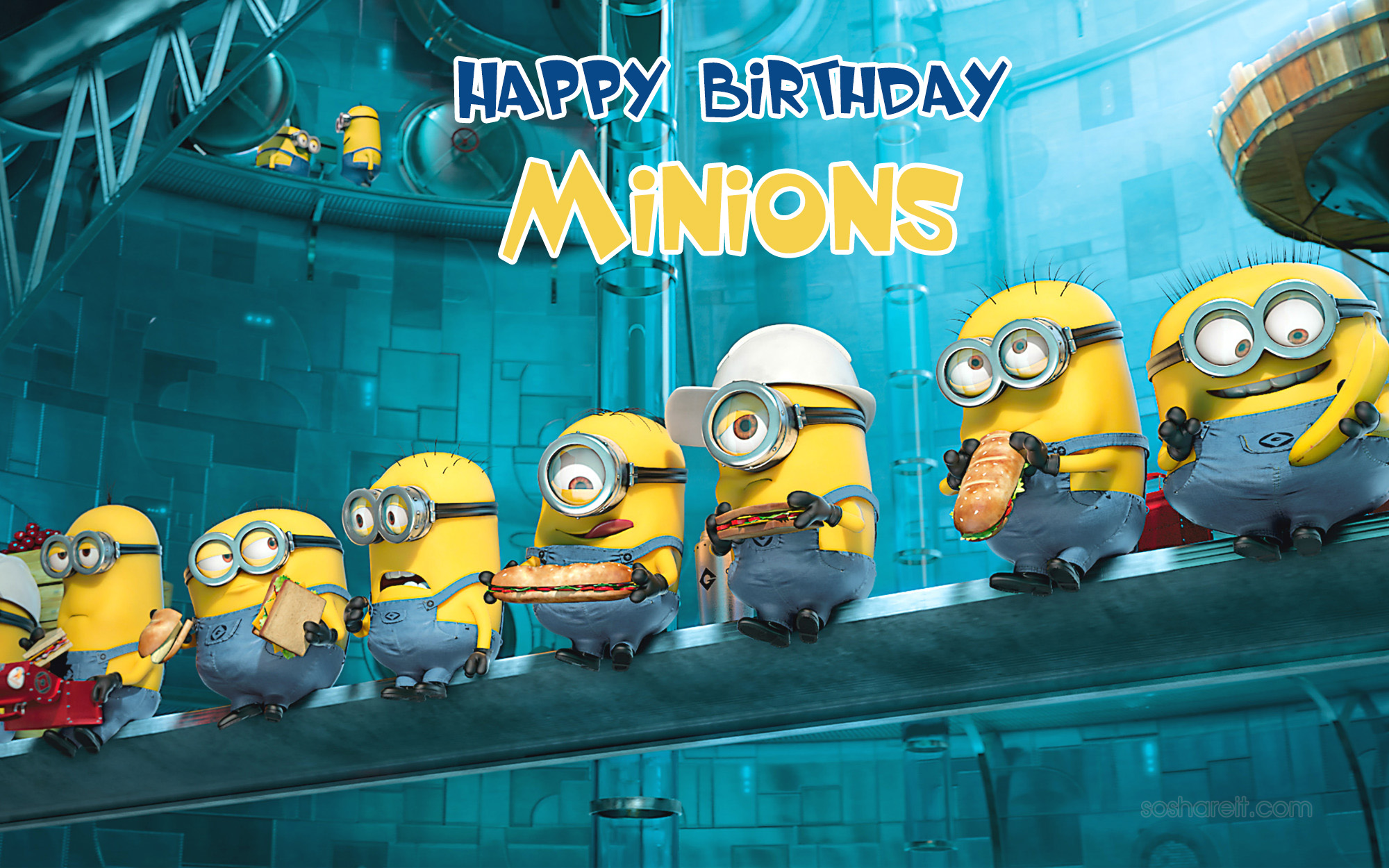 Happy Birthday Minions Wishes Videos Hd Wallpapers