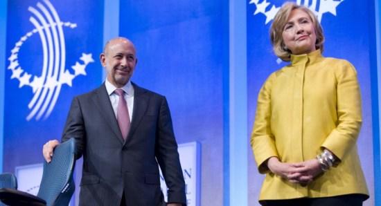 clinton and Goldman Sach's