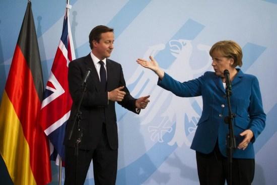 Pendokong Projek Kapitalis EU Tegar, Cameron dan Merkel