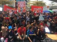Aksi mahasiswa UTM dalam membantah kenaikan yuran pendidikan