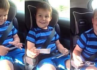 Sarah Bromby bestemte seg for å fortelle sin 5 år gamle sønn at han skal bli storebror ved å vise han ultralydbildene.