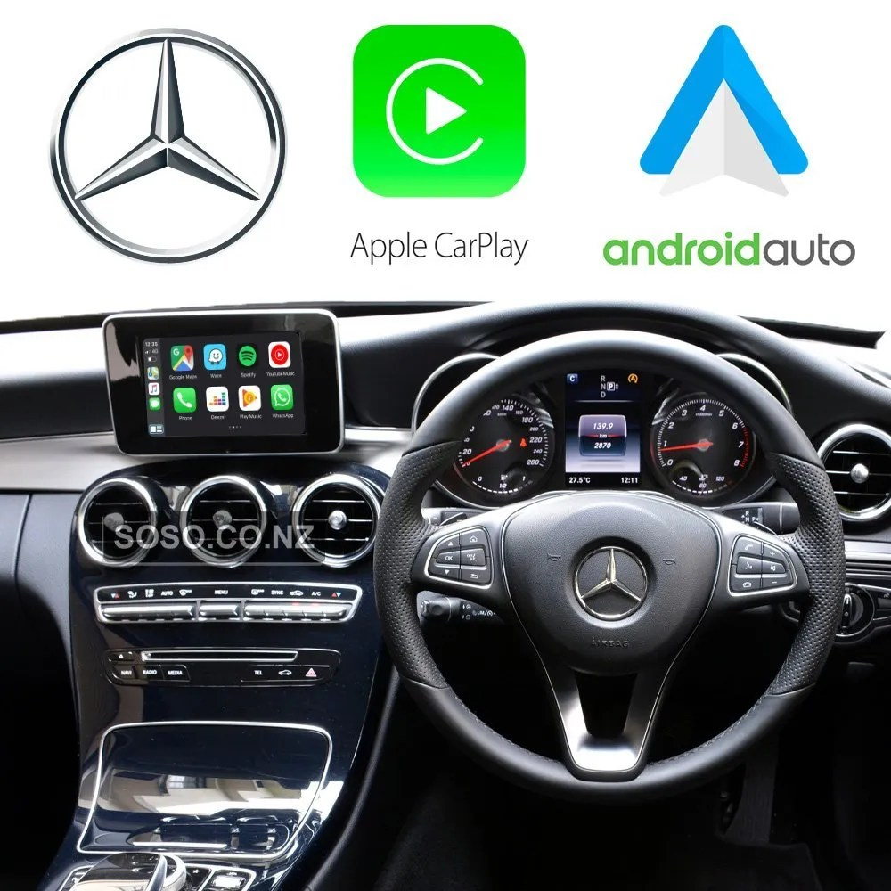 Auto Retrofit - Apple Carplay &Amp; Android Auto Retrofit Kit For Mercedes Ntg 5.0 5.1 A B C E V Class