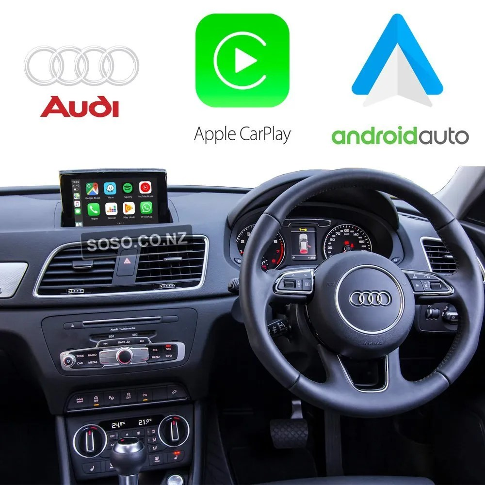 Auto Retrofit - Audi Q3 Rsq3 (2013-2018) Apple Carplay &Amp; Android Auto Retrofit Kit