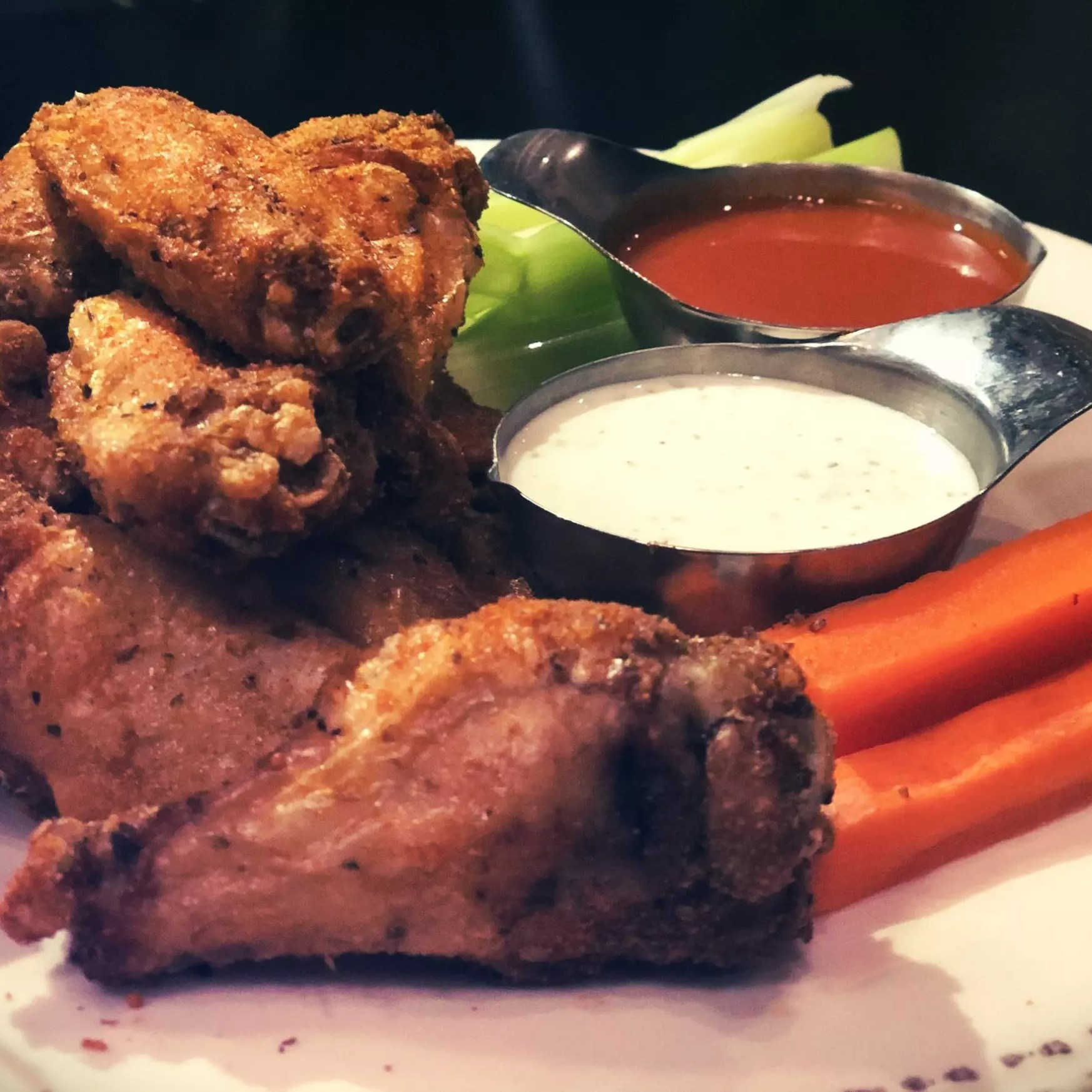 City Kitchen City Wings up close.