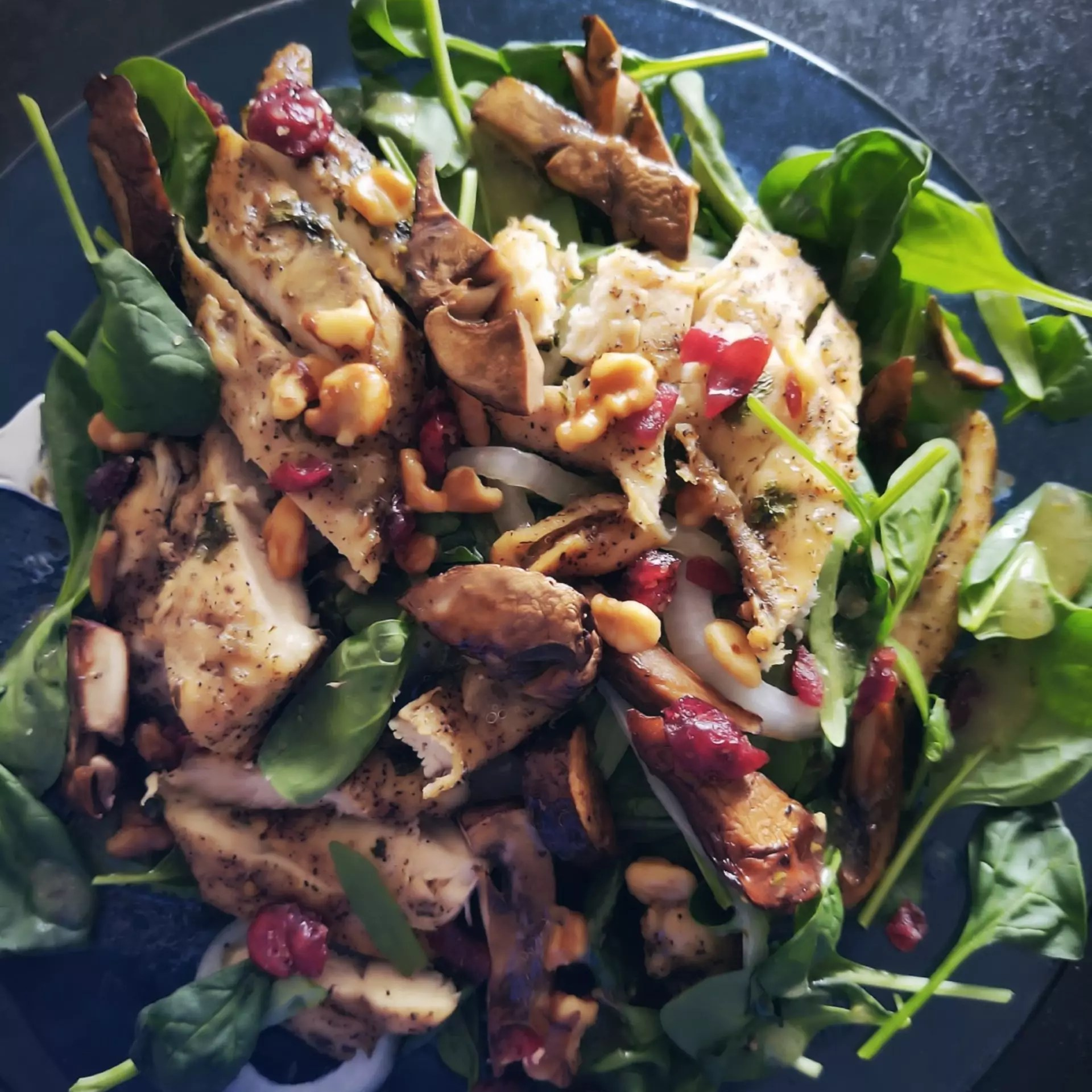 A chicken salad on the sweet side.