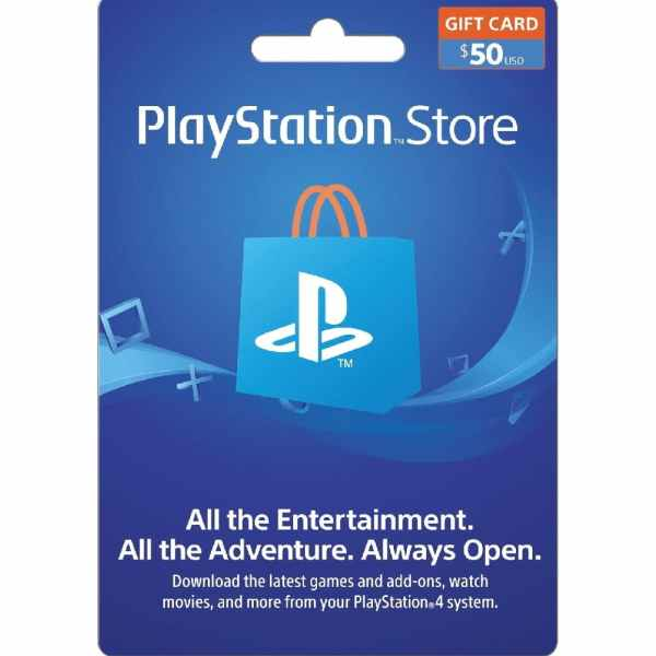 $50 PlayStation Wallet Gift Card – Digital Code