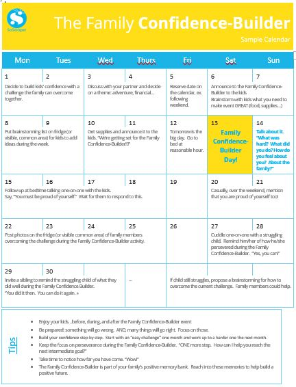 Family confidence builder calendar so sooper family confidence builder calendar solutioingenieria Image collections