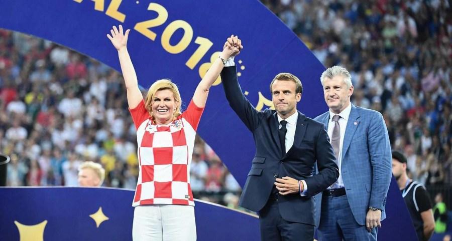Emmanuel Macron and Kolinda Grabar-Kitarovic