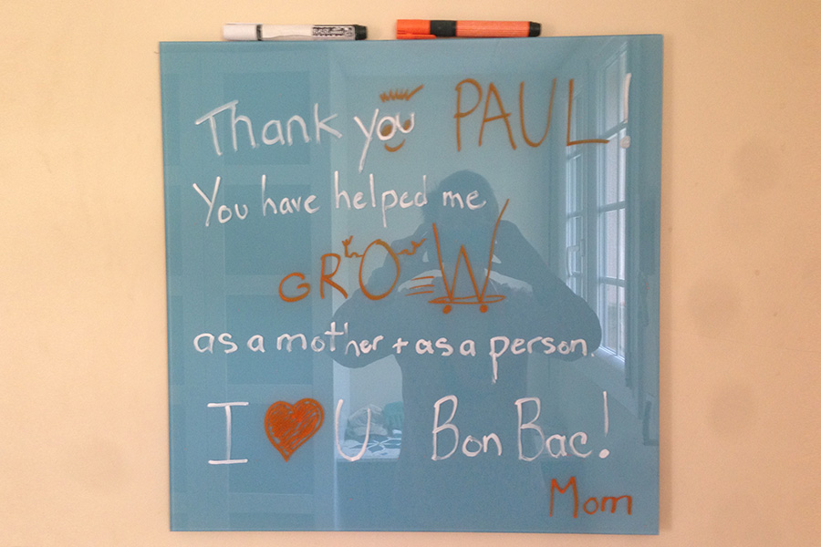 Mom's thanking kids for growth