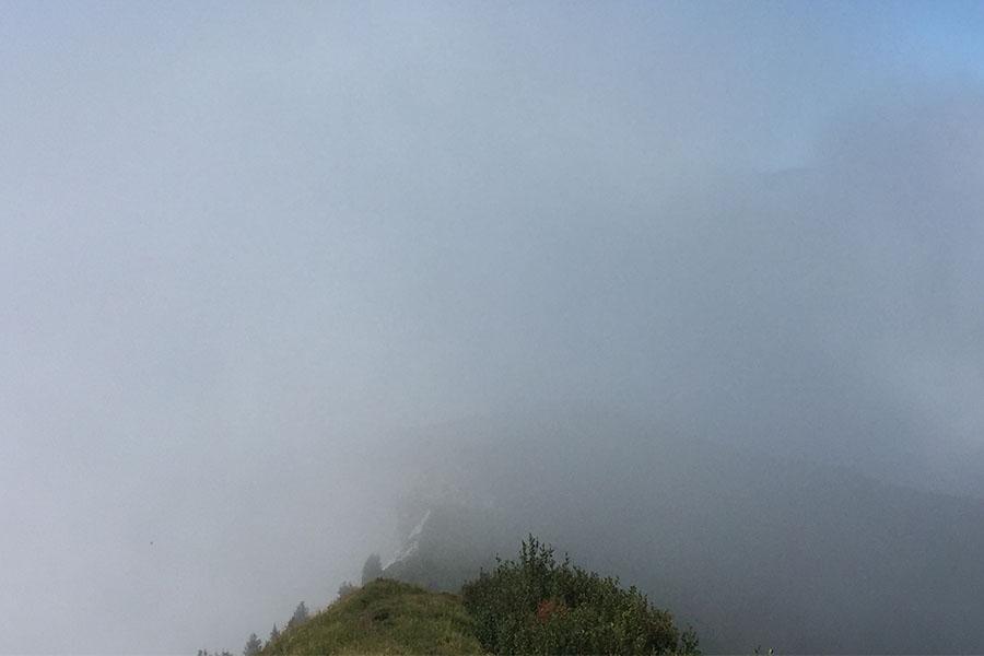 Fog blocking view