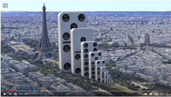 Domino Effect Eiffel Tower