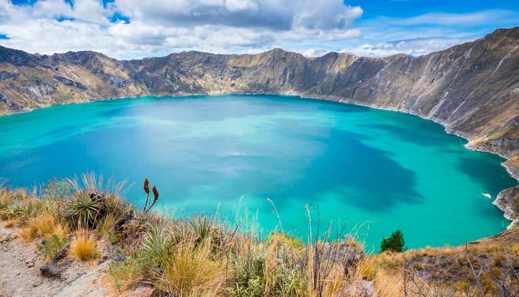 Quilotoa بحيرة فوهة البركان ، الإكوادور