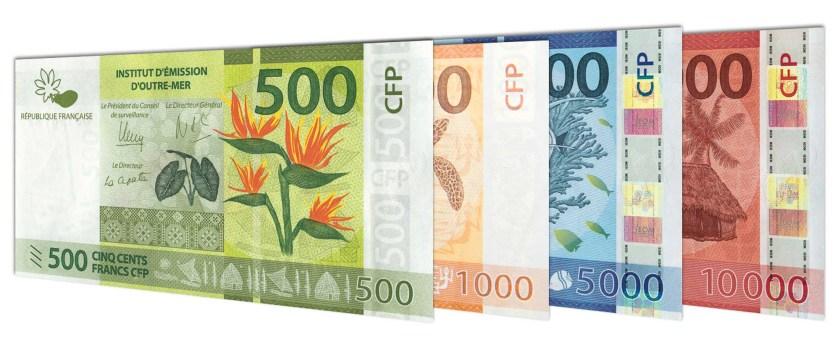 الأوراق النقدية الحالية cfp-france-polynesian-franc-banknotes