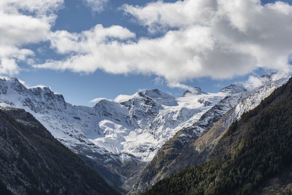 mountains, summit, snow