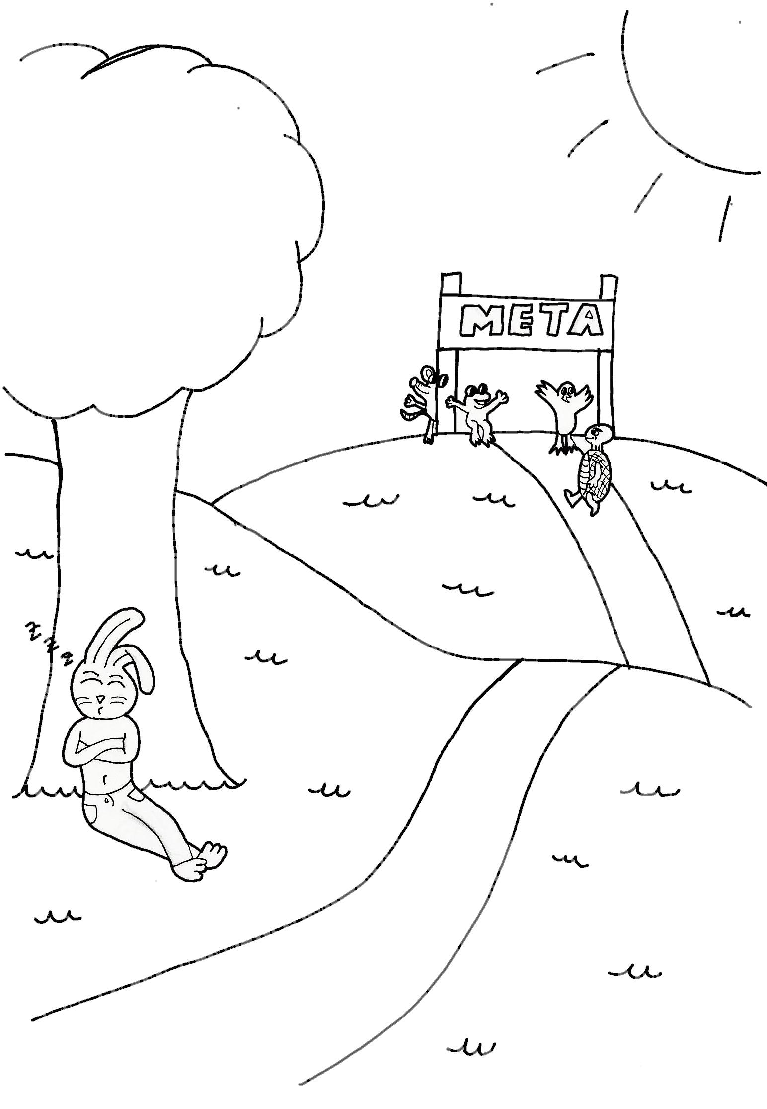 Dibujo La Liebre Y La Tortuga Sos Profes