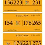 Cartones BINGO ABN: Fase 8 de la SUMA