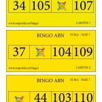 Cartones BINGO ABN: Fase 7 de la SUMA