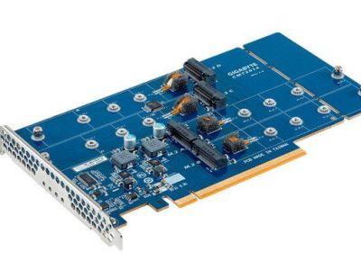 Gigabyte presenta el adaptador CMT2014 para cuatro SSD tipo M.2