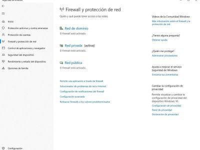 Cómo restaurar la configuración del firewall de Windows en caso de problemas