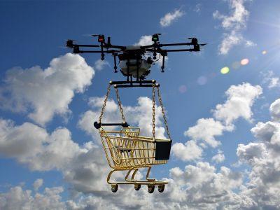 La carrera en el desarollo de los drones de reparto de Walmart y Amazon