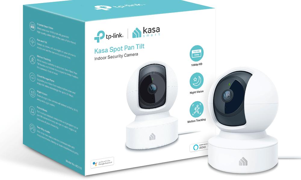 TP-Link renueva su catálogo de cámaras de vigilancia IP para el hogar con la nueva Kasa Spot Pan Tilt KC110