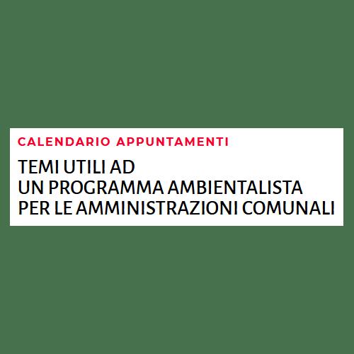 Calendario programma amministrativo