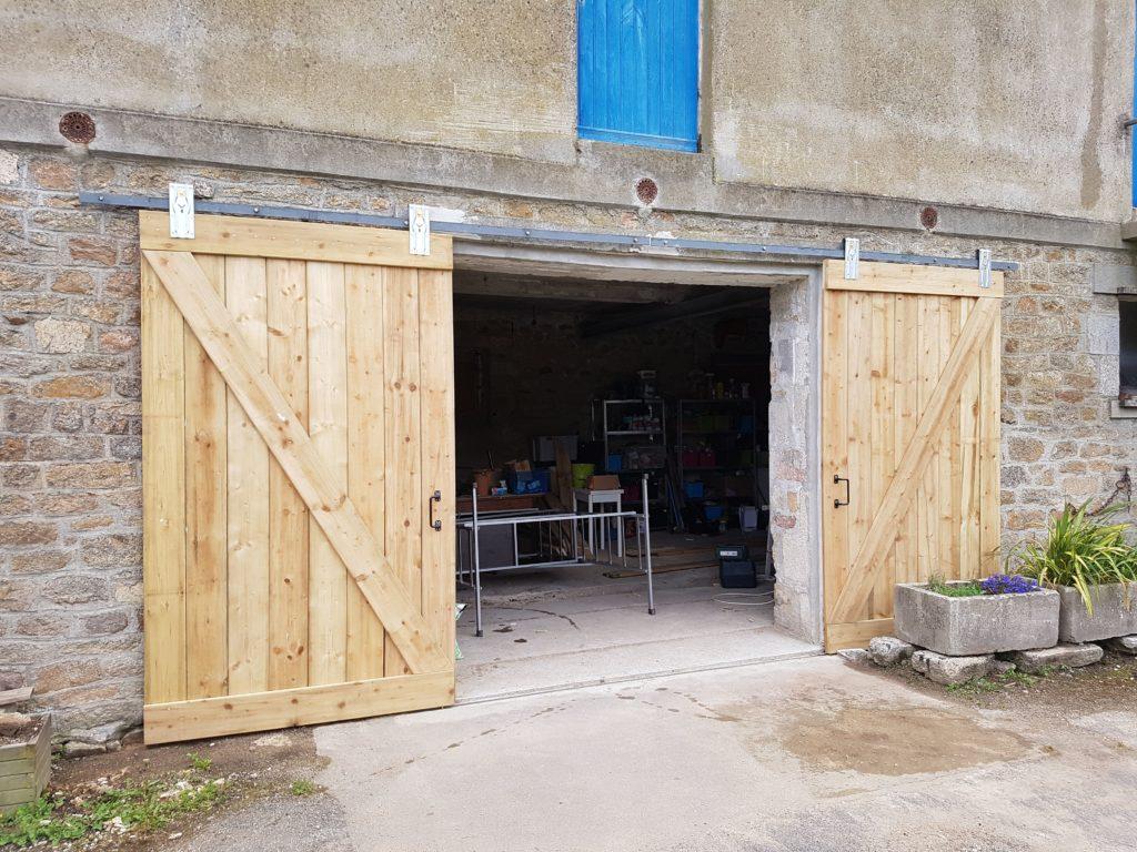 fabriquer une porte de grange