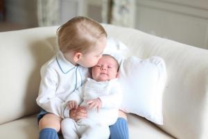 Photos show Princess Charlotte, Prince George together