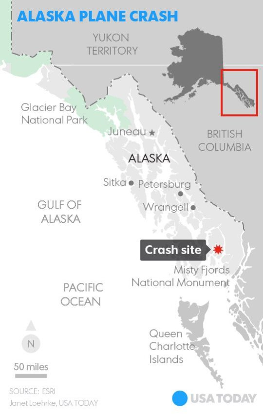 Nine Dead After Sightseeing Plane Crashes in Alaska Cliff