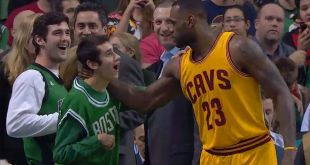 LeBron James Gives Shoes to Special Olympics MVP Honored at Game vs Celtics