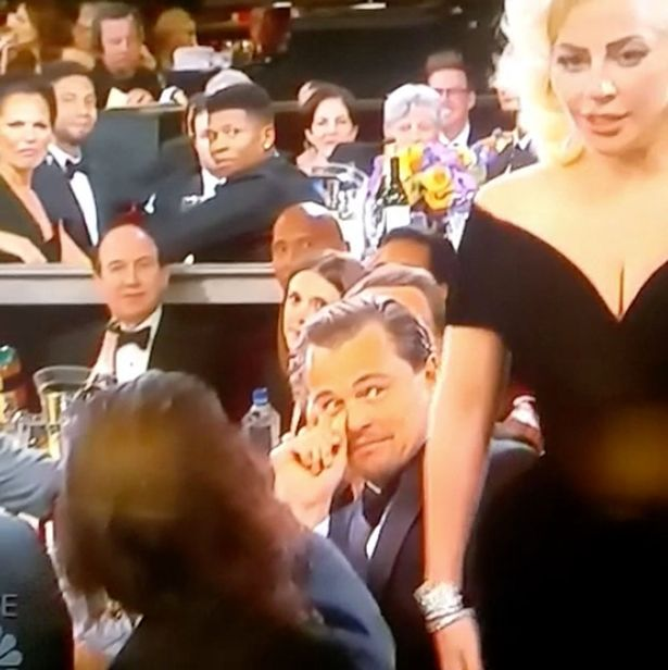 Popstar Lady Gaga showed some attitude leaving Leo di Caprio a little stunned