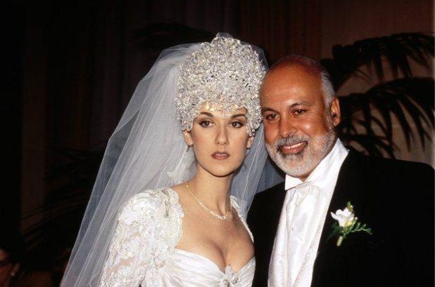 Celine Dion and Rene Angelil wed on Dec. 17, 1994.