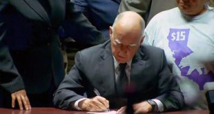 California Governor Jerry Brown Signs $15-an-Hour Minimum Wage Law